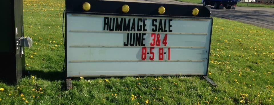 Rummage Sale – June 3rd-4th, 2016