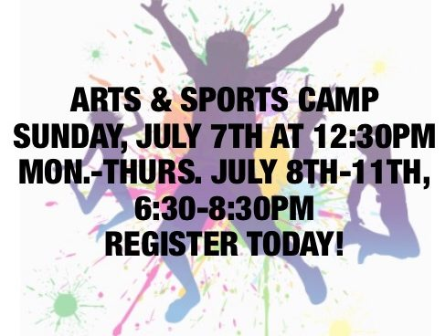 Arts & Sports Camp – July 7th-11th, 2019